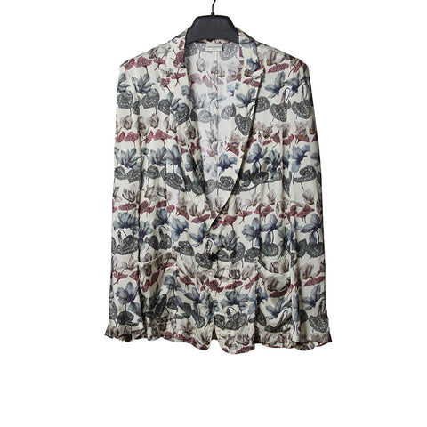 DRIES VAN NOTEN 14SS FLORAL PRINT VISCOSE JACKET