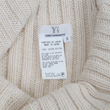 Y'S BY YOHJI YAMAMOTO HIGH NECK LOOSE KNIT SWEATER