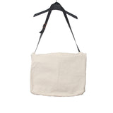 PAUL HARNDEN SHOEMAKERS COTTON LARGE POSTMAN DELIVERY BAG WITH LEATHER ADJUSBALE SHOULDER STRAP