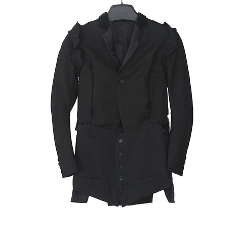 UNDERCOVER 13SS WOOL RAW SHOULDER SEAMS OPEN ARMPIT BLAZER