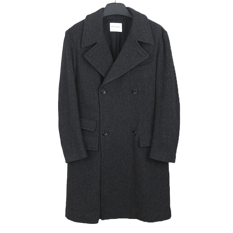 MARK AWARE WOOL BLEND DOUBLE BREASTED COAT