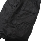 DRKSHWD BY RICK OWENS WAXED DRAWSTRING DROP CROTCH PANTS