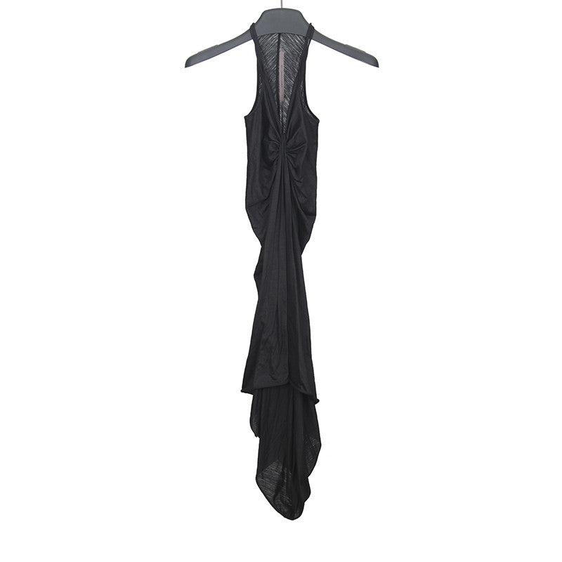 RICK OWENS LILIES WOOL DRAPED DRESS