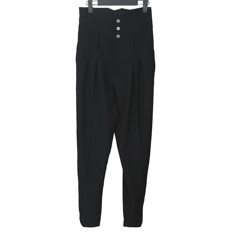 LIMI FEU WOOL PLEATED HIGH WAIST LINE PANTS