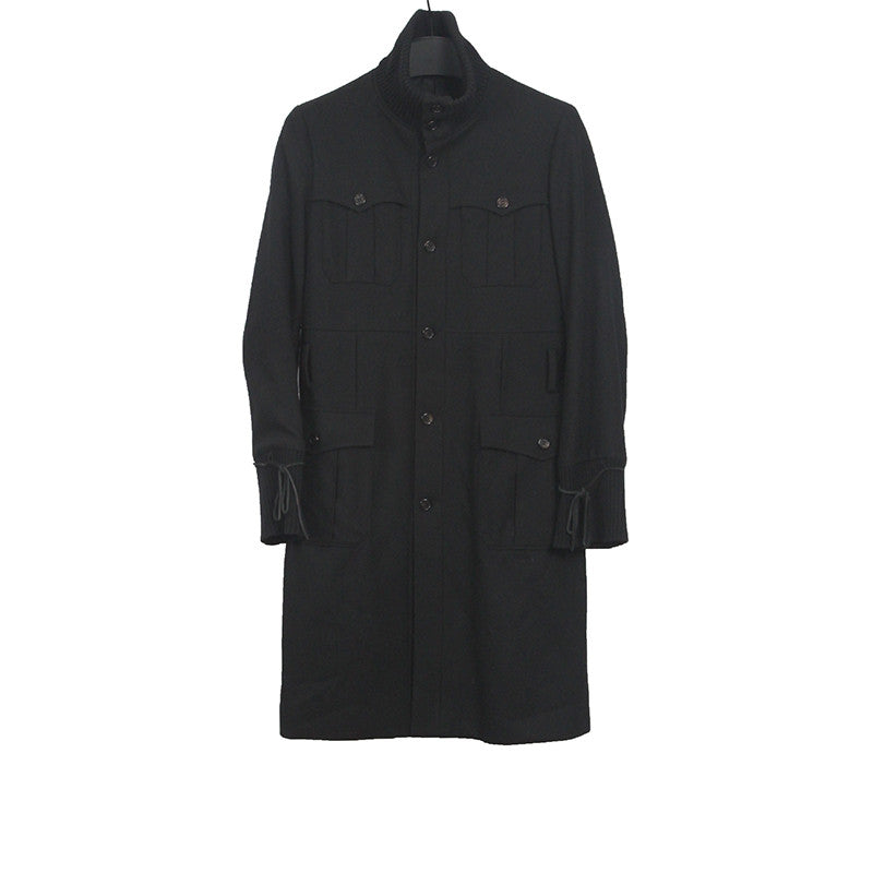 UNDERCOVER WOOL BELTED HIGH NECK FIELD COAT