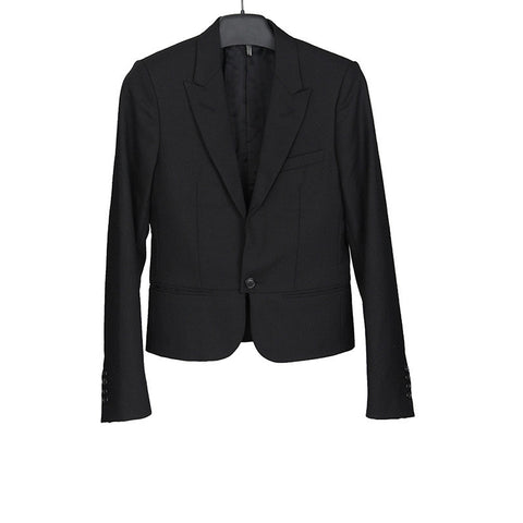 DIOR HOMME SS07 PEAKED LAPEL TA ONE BUTTON WOOL BLAZER TAILORED JACKET