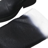 ANN DEMEULEMEESTER 12AW LEATHER BLOCK DYED DEGRADE BOOTS