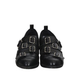 COMME DES GARCONS 14AW CALF LEATHER PULL TAB FIVE BUCKLE OXFORD SHOES