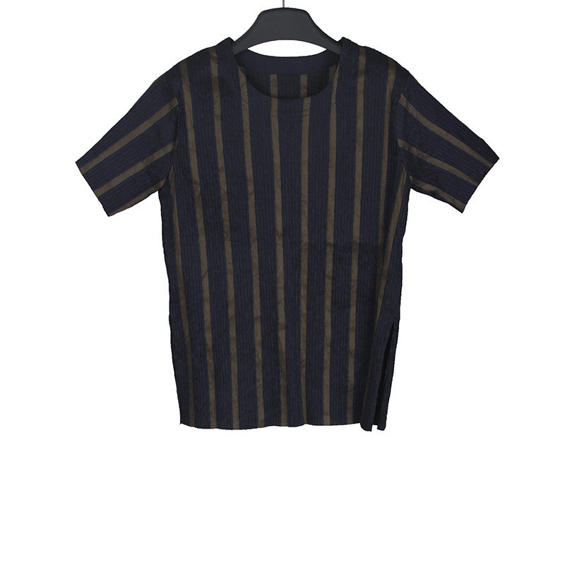 UMA WANG 15SS STRIPLES SHORT SLEEVE TEE