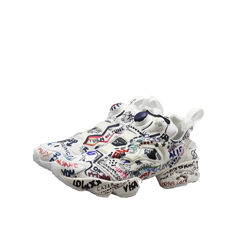 VETEMENTS SS17 X REEBOK GRAFFITI INSTAPUMP FURY SNEAKER