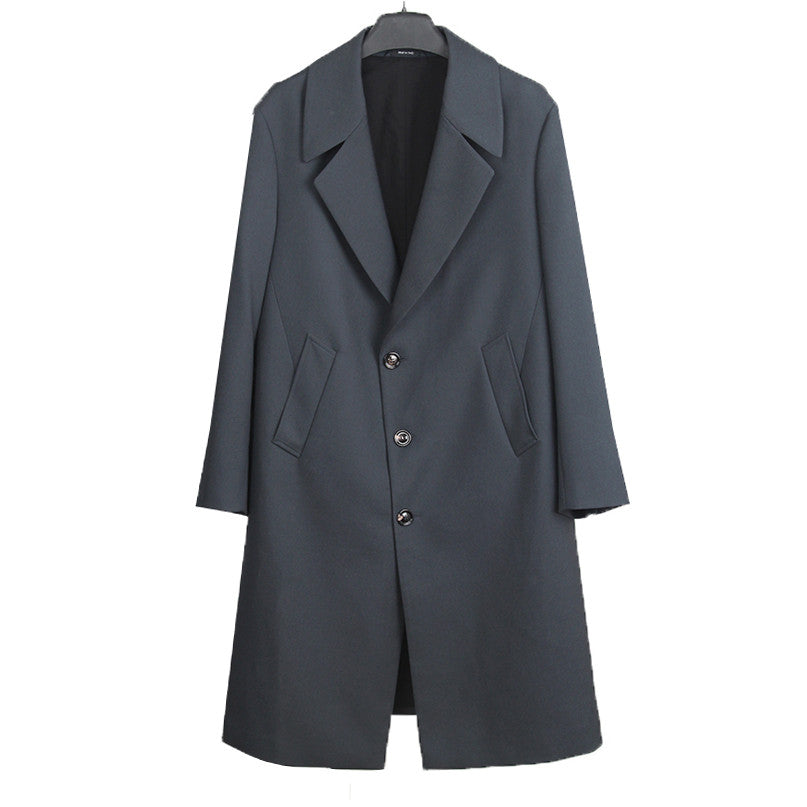 MAISON MARTIN MARGIELA MMM SINGLE BREASTED WOOL COAT