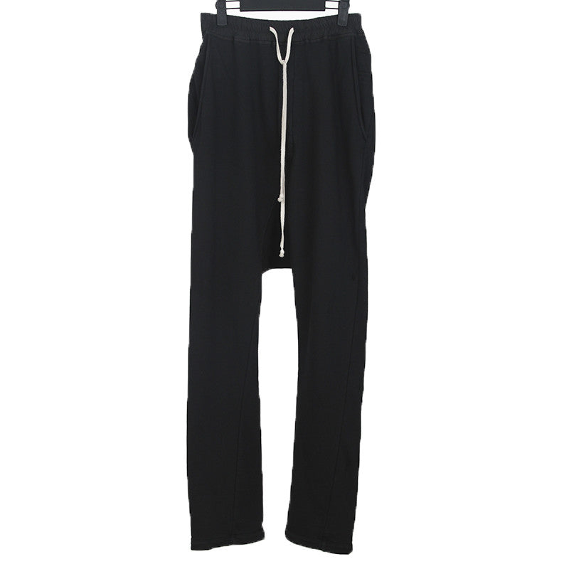 DRKSHWD BY RICK OWENS 14AW COTTON DROP CROTCH PANTS