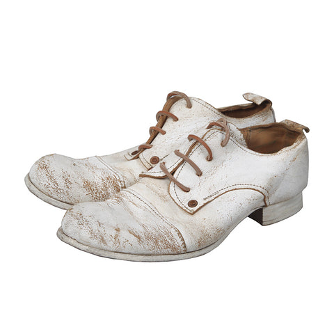 PAUL HARNDEN WOMEN COWHIDE DISTRESSED DAMAGED DERBY