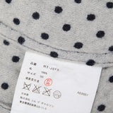 COMME DES GARCONS WOMEN ONE BUTTON POLKA DOT WOOL JACKET