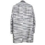 RICK OWENS AW14 MULTICOLOR HORIZON WEAVE WRAP COAT