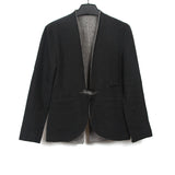 ALEKSANDR MANAMIS 13AW LINEN REVERSIBLE TWO FACED BLAZER