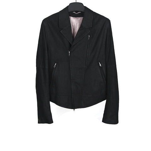 ANN DEMEULEMEESTER WASHED ANGELINA LEATHER BIKER JACKET