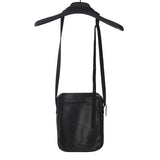 M.A+ BY MAURIZIO AMADEI COW LEATHER DOUBLE SIDE POUCH POCKET CROSSBODY BAG