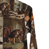 PAUL HARNDEN SHOEMAKERS 15AW WOMENSWEAR PASTURE DOG PRINT SHIRT