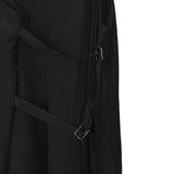 ANN DEMEULEMEESTER SHOULDER STRAPPED SILK DRESS
