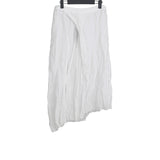 LUMEN ET UMBRA LINEN ASYMMETRIC RAW SKIRT