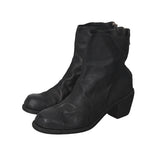 GUIDI 4006 HORSE LEATHER BACK ZIP LOW BOOTS WITH HEAL