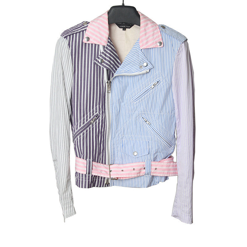 COMME DES GARCONS 13SS MULTI STRIPES RIDER JACKET