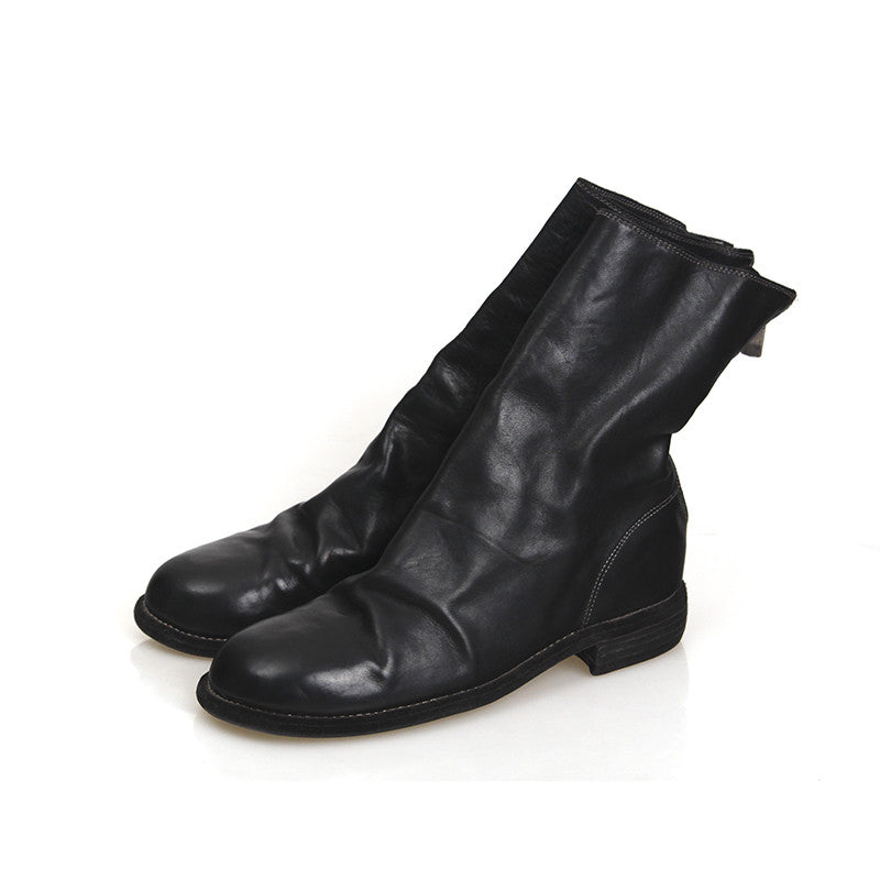 GUIDI 988 HORSE LEATHER BACK ZIP BOOT