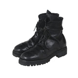 GUIDI HORSE LEATHER 795V TANK SOLE LACE UP BOOTS