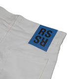 "RAF SIMONS 15SS ""RSSR"" LOGO BACK PATCH TAG DETAIL STRAIGHT LEG PANTS"
