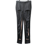 MAISON MARTIN MARGIELA CUT-OUT WOOL SILK PANT W/ INNER LEGGING