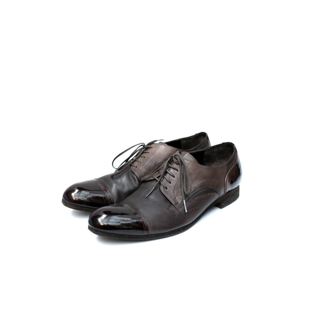 MIHARAYASUHIRO DRESS SHOES W/ PATENT LEATHER TOE & HEEL