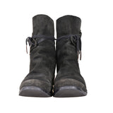 BORIS BIDJAN SABERI BACK FOLD CLOSURE HORSE LEATHER BOOTS