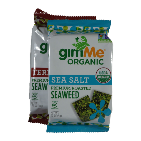Gimme - Organic Roasted Seaweed and Crisps - Single and multi-serving paks