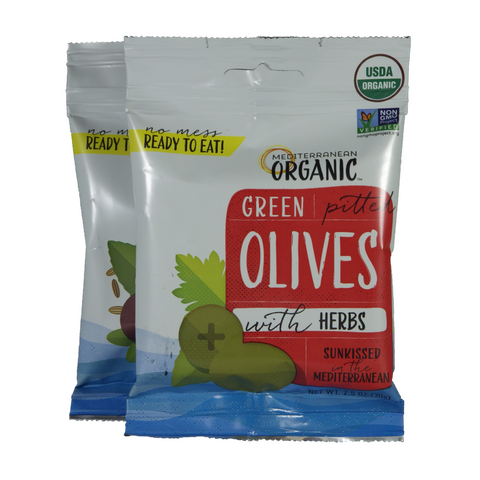 Mediterranean Organic - Olives - Single serving pouches