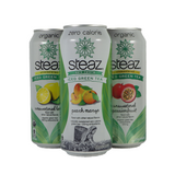 Steaz - Flavored Iced Green Teas - Single serving cans