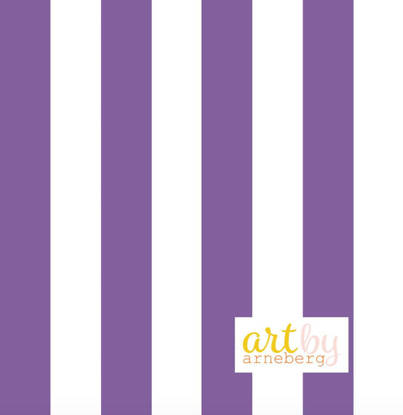 Stripes french terry purple