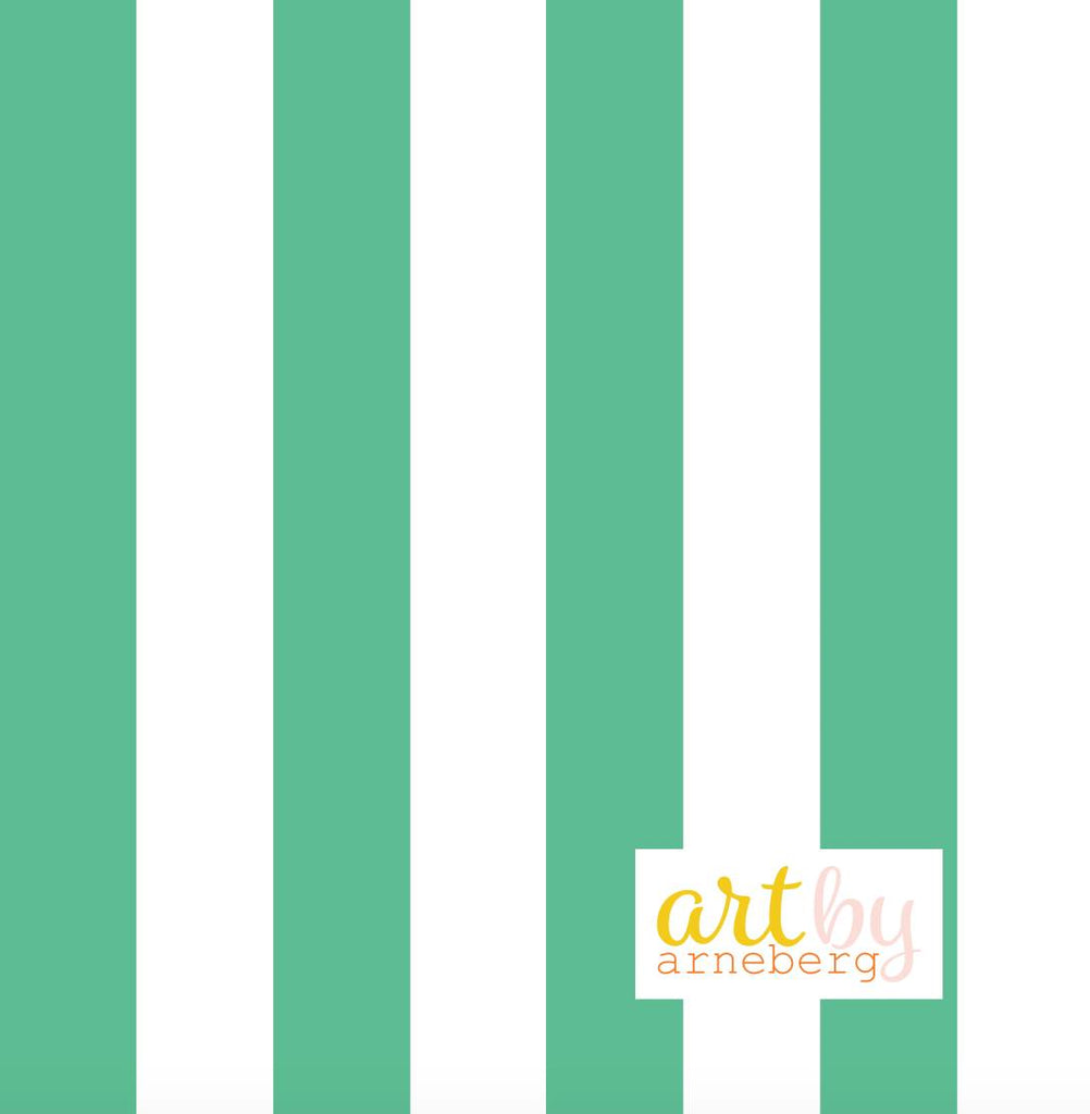 Stripes french terry mint