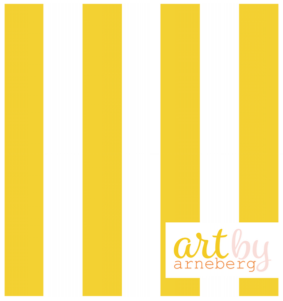 Stripes french terry yellow
