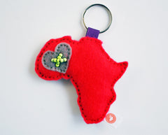 AFRICA KEY RING - RIBBON