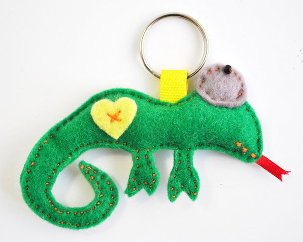 BUSHFELT KEY RING - RIBBON - CHAMELEON