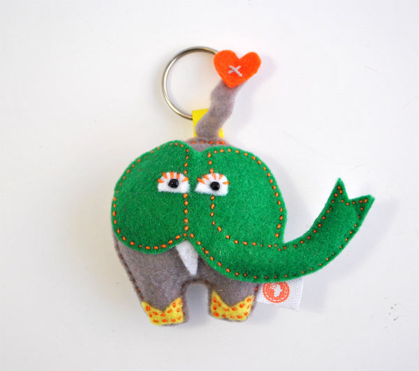BUSHFELT KEY RING - RIBBON - ELEPHANT