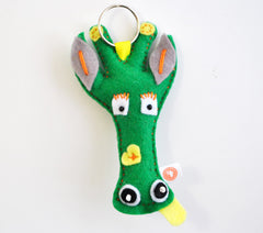 BUSHFELT KEY RING - RIBBON - GERRY FACE