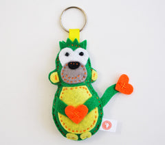 BUSHFELT KEY RING - RIBBON - MONKEY