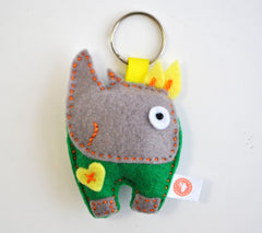BUSHFELT KEY RING - RIBBON - RHINO