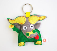 BUSHFELT KEY RING - RIBBON - BUFFALO