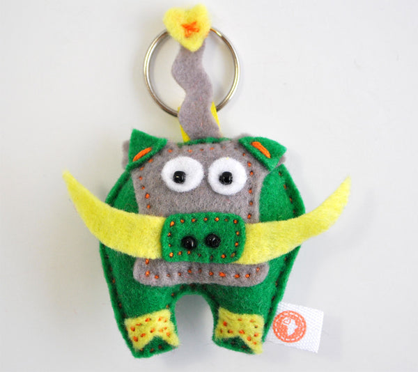 BUSHFELT KEY RING - RIBBON - WARTHOG