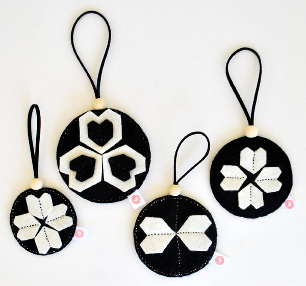 KALEIDOSCOPE BALL SETS - BLACK + CREAM