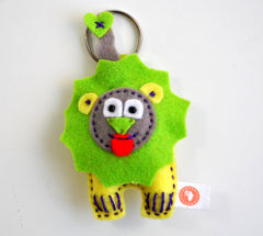 BUSHFELT KEY RING - RIBBON - LION