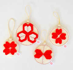 KALEIDOSCOPE BALL SETS - BRIGHT RED + CREAM